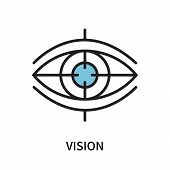 Vision Icon Isolated On White Background. Vision Icon Simple Sign. Vision Icon Trendy And Modern Sym poster