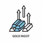 Gold Ingot Icon Isolated On White Background. Gold Ingot Icon Simple Sign. Gold Ingot Icon Trendy An poster