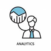 Analytics Icon Isolated On White Background. Analytics Icon Simple Sign. Analytics Icon Trendy And M poster
