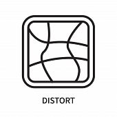 Distort Icon Isolated On White Background. Distort Icon Simple Sign. Distort Icon Trendy And Modern  poster