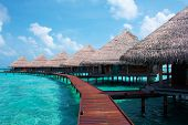 Water Villas In The Ocean. Maldives.
