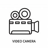 Video Camera Icon Isolated On White Background. Video Camera Icon Simple Sign. Video Camera Icon Tre poster