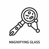 Magnifying Glass Icon Isolated On White Background. Magnifying Glass Icon Simple Sign. Magnifying Gl poster