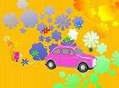 Flower Power Hippie Car Fantasy