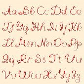 handwritten alphabet