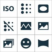 Image Icons Set With Image, Iso, Broken Image And Other Image Elements. Isolated  Illustration Image poster