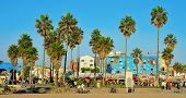 VENICE, US - OCTOBER 16: Ocean Front Walk of Venice Beach on October 16, 2011 in Venice, US. This bo