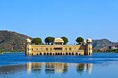 Water palace Jal Mahal in Jaipur, India.