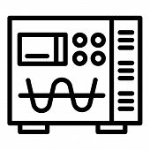 Electric Modulator Device Icon. Outline Electric Modulator Device Icon For Web Design Isolated On Wh poster