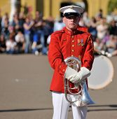 Member Of Usmc Marching Band