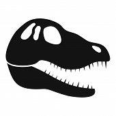 Dinosaur Skull Head Icon. Simple Illustration Of Dinosaur Skull Head Icon For Web Design Isolated On poster