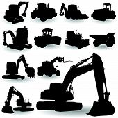 Construction Work Machine Silhouette
