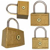 Four Metal Locks
