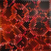 Vector black-red mosaic