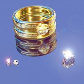Golden Ring And Brilliants
