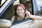 Teen Driver With Car Keys