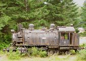 Old Abandoned Steam Train