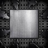 circuitos electrónicos agrietado