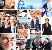 stock photo of business success  - Business people meeting in the downtown - JPG
