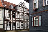 Old Fachwerk house in Wolfenbuttel.