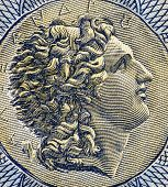 GREECE - CIRCA 1941: Alexander The Great (356-323BC) on 1000 Drachmai 1941 Banknote from Greece. Gre