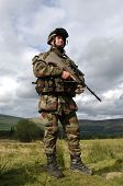 picture of breastplate  - Portrait of Soldier on Duty in full dress kit - JPG