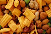 Spicy Dried Nuts Salty Snacks Mix poster