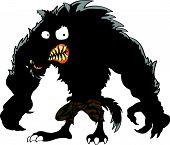 Angry wolf cartoon