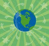 Постер, плакат: Ретро день земли