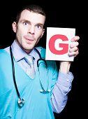 männlichen Frauenarzt Arzt Schild Gynäkologie