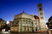 Florence Cathedral (duomo - Basilica Di Santa Maria Del Fiore) In The Morning, Tuscany, Italy