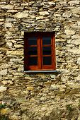 Detail of a window at a schist village