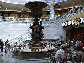 Moscow, Russia - June 27, 2008: Monument Of Hunters In The Mall Ohotniy Ryad On June 27, 2008 In  Mo