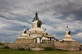 Stupa At Karakorum Monastery Mongolia