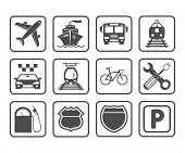 stock photo of 8-track  - Transportation icons and signs - JPG