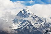 Ama Dablam peak in the Nepal Himalaya