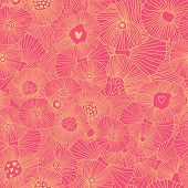 stock photo of fill  - Bright floral seamless pattern - JPG