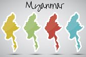 stickers in form of Myanmar