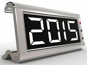 Desk Calendar Shows Year Two Thousand Fifteen