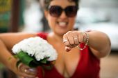 Maid Of Honour With Wedding Rings