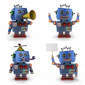 Blue Toy Vintage Robot Set 2