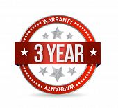 Three Year Warranty Seal Illustration