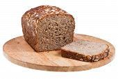 Grain Bread Loaf And Sliced Piece