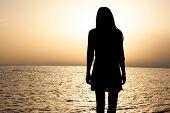 Woman's Portrait As Silhouette