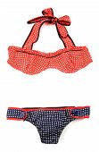 Polka Dots Frilly Vintage Bikini