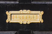 Old Brass Letterbox