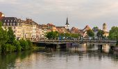 View Of Strasbourg City Over The Ill River - Alsace, France