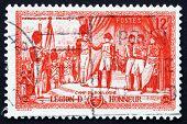 Postage Stamp France 1954 Napoleon Awarding Legion Of Honor Decoration