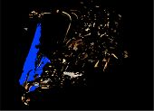 Blue Sillouette Sax