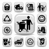 pic of reprocess  - Vector Garbage And Cleaning Icons Set Created For Mobile - JPG